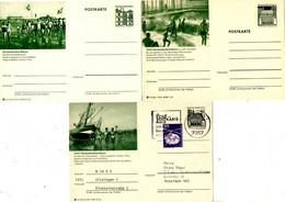 3 Bildpostkarten über Nordseebad Büsum, 2xpostfrisch, 1xgelaufen, - Bildpostkarten - Ungebraucht