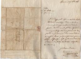 VP18.401 - 1855 - Lettre - Etude De Me MATHIEU Avoué à MAURIAC Pour Mr BARBET à SAINT MARTIN VALMEROUX - Manuscripts
