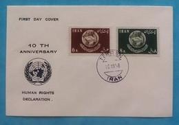 Persia Iran Complete Set On Cover FDC 1958 - Iran