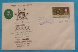 Persia Iran Complete Set On Cover FDC 1967 Scouts - Iran