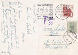 BUND 1967 CARTE TAXEE DE ASCHAFFENBURG - Briefe U. Dokumente