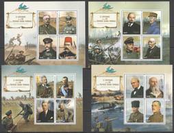 JA059-62 2018 CENTENARY OF THE END WORLD WAR I WWI LEADERS 4KB MNH - WW1 (I Guerra Mundial)