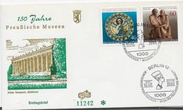 3639  FDC  Berlin 1980, Fechador Nefertiti,  Museen - FDC: Briefe