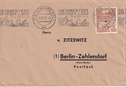 BUND 1952 LETTRE DE MÜNCHEN - Briefe U. Dokumente