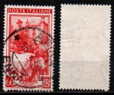 Italia Al Lavoro 60 Lire Filigrana Ruota 1 Destra Bassa - 1946-60: Used