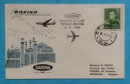 Persia Iran First Flight Cover FFC To Belgium 1960 - Iran
