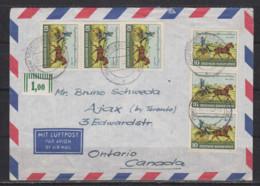Bund LP-Überseebrief Stuttgart 30.12.52 Mit 6x 160 Nach Canada (rs.Ak-o) Seltene Mehrfachfrankatur - Briefe U. Dokumente