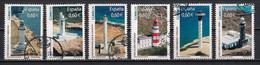 Espagne 2008 : Timbres Yvert & Tellier N° 4050 - 4051 - 4052 - 4053 - 4054 - 4055 + Feuille Des 6 Timbres Oblitérés. - 2001-10 Usati