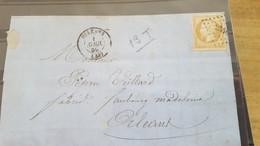 LOT561316 TIMBRE DE FRANCE OBLITERE N°13 SUR ENVELOPPE - 1849-1850 Ceres