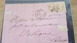 LOT561322 TIMBRE DE FRANCE OBLITERE N°13 PAIRE  SUR ENVELOPPE - 1849-1850 Ceres
