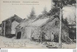 RECOGNE ..-- Chaumière  Ardennaise . 1905 Vers VERLAINE ( Melle Berthe GRAILLET ) . Voir Verso . - Houffalize