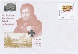 GERMANY Mi. Nr. USo 108 250. Geburtstag Generalleutnant Gerhard Von Scharnhorst - 2005  - - Umschläge - Ungebraucht