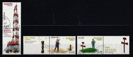 Espagne 2008 : Timbres Yvert & Tellier N° 4061 - 4071 - 4072 - 4073 - 4074 - 4075 - 4076 Et 4077 Se Tenant Et 4078 Oblit - 2001-10 Usati
