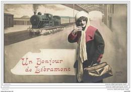 LIBRAMONT ..-- TRAIN .  Un Bonjour De .... 1912 Vers BERTRIX ( Melle Rosa STIENNE ) . Voir Verso . - Libramont-Chevigny