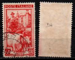 Italia Al Lavoro 60 Lire Filigrana Ruota 1 Destra Alta - 1946-60: Used