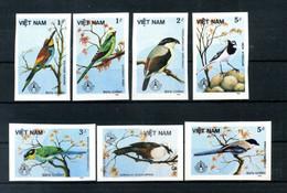 1986 VIETNAM SET MNH **Imperf. Non Dentellati Stockholmia '86 Uccelli - Pájaros Cantores (Passeri)