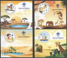 JA092 2018 SCOUTING BOY SCOUTS WILD ANIMALS CHILDREN FAUNA 4BL MNH - Unused Stamps