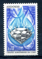 1969 ANDORRA FRANCESE SET MNH ** N.197 Carta Europea Delle Acque - Ungebraucht