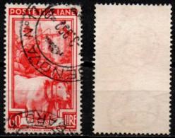# Italia Al Lavoro 60 Lire Filigrana Ruota 1 Sinistra Alta - 1946-60: Used