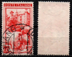 Italia Al Lavoro 60 Lire Filigrana Ruota 1 Sinistra Alta - 1946-60: Used