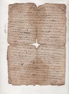 48 LOZERE - CONTRAT DE MARIAGE DATE DE 1757 / SAINT JULIEN DU TOURNEL - PEYTAVIN ? / BOUDOUSSIER ? DE MAS D'ORCIERES ? - Manuscripts