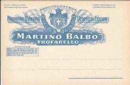 MARTINO BALBO VERMOUTH LIQUORI TROFARELLO TORINO - BIGLIETTO COMMERCIALE ORIGINALE - Otros