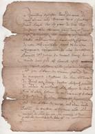 48 LOZERE - CONTRAT DE MARIAGE DATE DE 1662 / SAINT JULIEN DU TOURNEL - ANTHOINE BOYER / ANTHOINETTE LEBLANC - Manuscripts