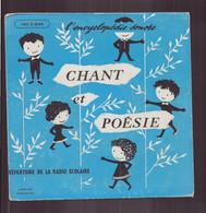 """45 T """" Chant Et Poésie """" Répertoire De La Radio Scolaire La Bruyère, Ronsard ... - Enfants"""