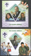 JA153 2019 FAMOUS SCOUTS SCOUTING ARMSTRONG KENNEDY MORRISON 1KB+1BL MNH - Unused Stamps