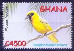 Heuglins Masked Weaver, Birds, Ghana 2002 MNH - Pájaros Cantores (Passeri)