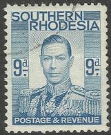 Southern Rhodesia. 1937 KGVI. 9d Used. SG 46 - Southern Rhodesia (...-1964)