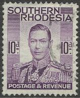 Southern Rhodesia. 1937 KGVI. 10d Used. SG 47 - Southern Rhodesia (...-1964)