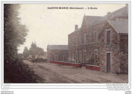SAINTE - MARIE ..-- BERNIMONT ..-- L' Ecole . 1908 Vers JEMAPPES ( Melle Domi  DELCROIX ) .  Voir Verso . - Libramont-Chevigny