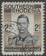 Southern Rhodesia. 1937 KGVI. 2/- Used. SG 50 - Southern Rhodesia (...-1964)