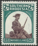 Southern Rhodesia. 1943 50th Anniv Of Occupation Of Matabeleland. 2d MH. SG 61 - Southern Rhodesia (...-1964)