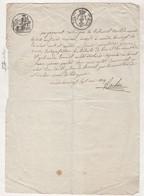 48 LOZERE - 1819 MENDE / SEPARATION EN BIENS DE JEANNE JOUVE ET PIERRE POULET DE SAINT JULIEN DU TOURNEL - Manuscripts