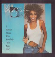 "45 T Whitney Houston "" I Wanna Dance With Sombody + Moment Of Truth "" - Disco, Pop"
