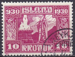 IS030B – ISLANDE – ICELAND – 1930 – MILLENARY OF THE ALTHING – SG # 172 USED 140 € - Used Stamps