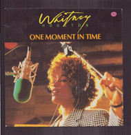 """45 T Whitney Houston """" One Moment In Time + Olympic Joy """" - Disco, Pop"""