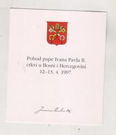 BOSNIA AND HERZEGOVINA 1997  CROATIAN POST POPEJOHN PAUL II Nice Sheet With Booklet - Bosnia And Herzegovina
