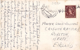 25979# REINE ELISABETH CARTE POSTALE ROCK OF GIBRALTAR OBLITERATION NAPOLI FERROVIA 1955 + PAQUEBOT - Covers & Documents