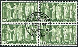 1955 BLOC DE 4 TIMBRES OBLITERES C/.S.B.K. Nr:218x. Y&TELLIER Nr:315A.MICHEL Nr:330x. P/MELE & BLEU/ROUGE - Usados