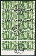 1955 BLOC DE 10 TIMBRES OBLITERES C/.S.B.K. Nr:218x. Y&TELLIER Nr:315A.MICHEL Nr:330x. P/MELE & BLEU/ROUGE - Usados