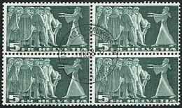 1955 BLOC DE 4 TIMBRES OBLITERES C/.S.B.K. Nr:217x. Y&TELLIER Nr:314A.MICHEL Nr:329x. P/MELE & BLEU/ROUGE - Usados