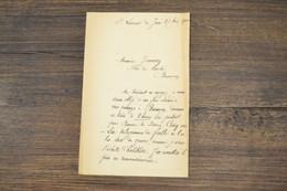 (CAN1) Lettre De Monsieur Grammont De Cour Les Baume / Saint Laurent Du Jura à Jeanney Place Du Marché Besançon - Manuscripts