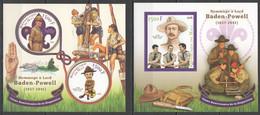 JA178 2016 SCOUTING ROBERT BADEN-POWELL 1KB+1BL MNH - Unused Stamps