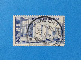 1952 ITALIA FRANCOBOLLO USATO STAMP USED XXX FIERA DI MILANO - 1946-60: Used