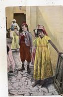 CONSTANTINE RUE ARABE ENFANTS JUIFS (CARTE COLORISEE) - Constantine