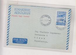 FINLAND 1952 HELSINKI Airmail Postal Stationery To Yugoslavia - Briefe U. Dokumente