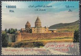Iran 2020, Moneastery Of Saint Thaddeus, MNH Single Stamp - Iran